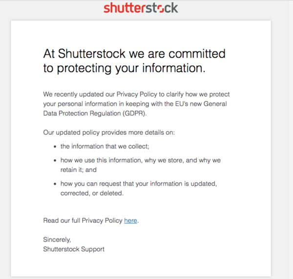 Minimal design email marketing — shutterstock