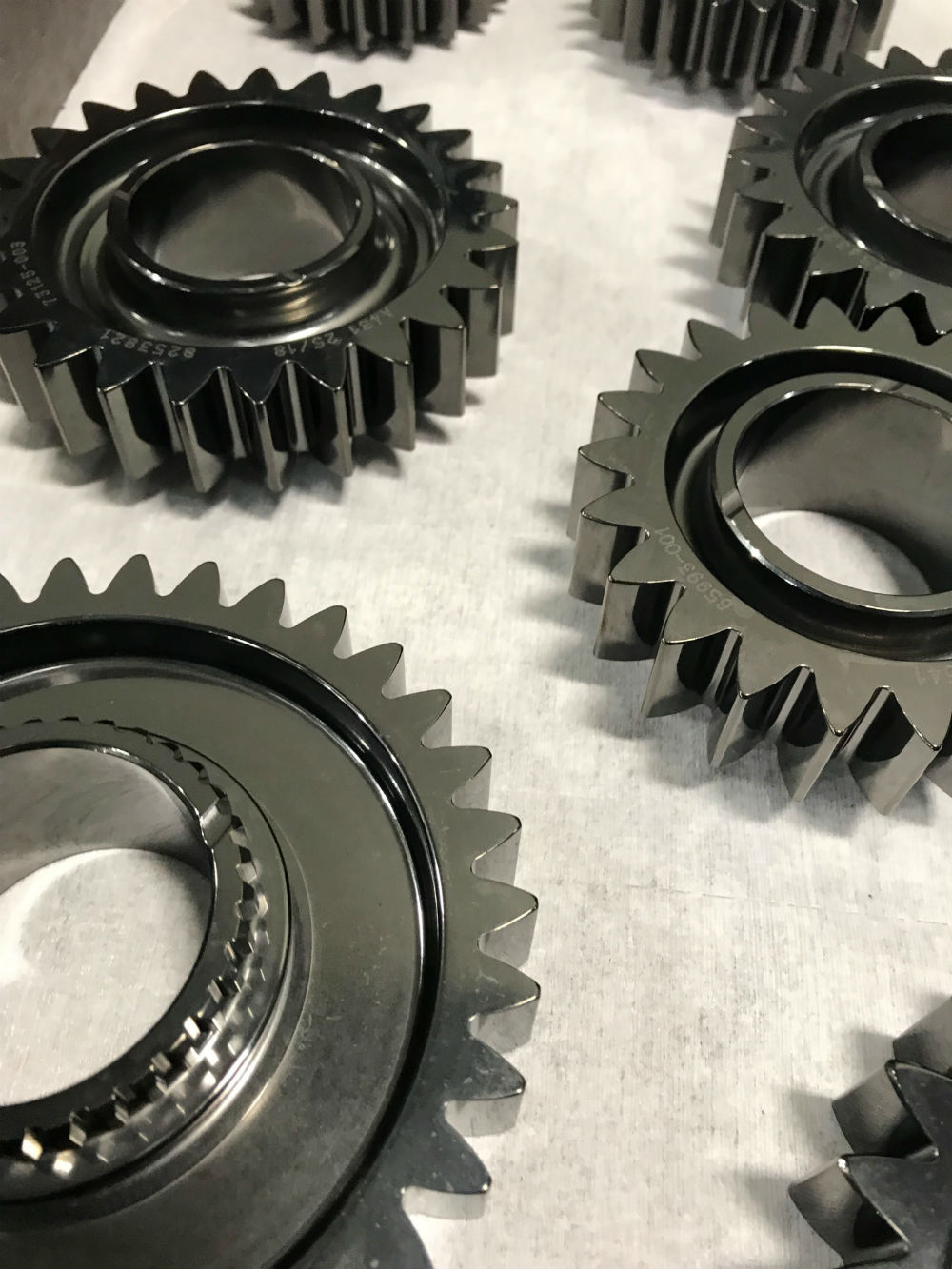 Pictures of coated mechanical gears