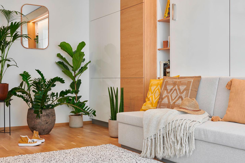 sofa med foldeseng og opbevaringsplads - strizkov.apartments