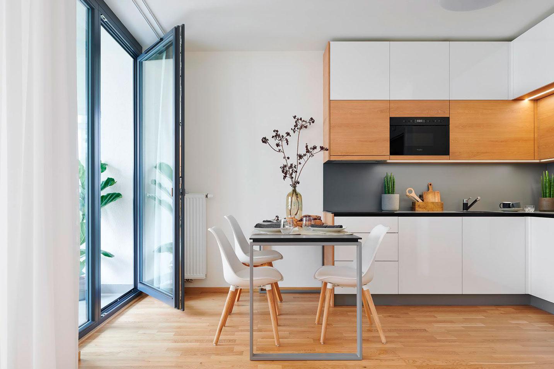 moderne køkken med spisestue - strizkov.apartments