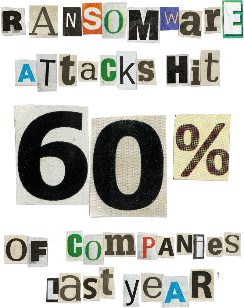 Ransomware attacks hit 60% of companies last year