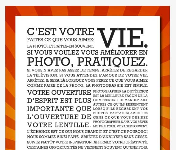 Le manifeste de Photo Service