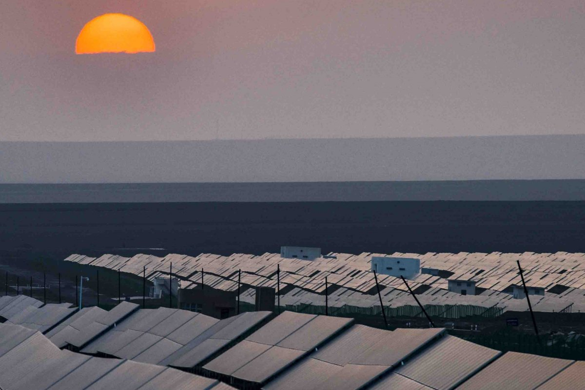 A photovoltaic power plant in Turpan, in northwest China's Xinjiang Uygur autonomous region, is part of the country's push towards green energy. Photo: Xinhua