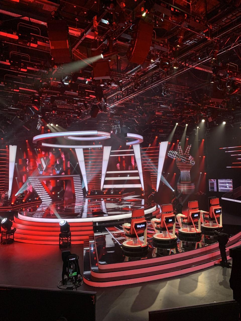Studio22, de TV studio waar alle afleverignen van The Voice worden opgenomen.