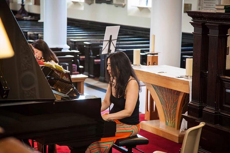 Pre concert practice in Surrey