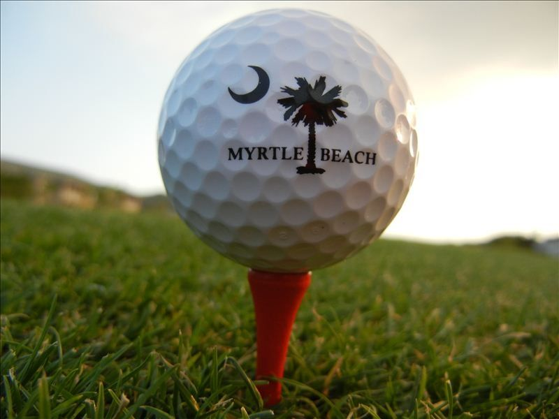 Myrtle Beach golf ball on tee