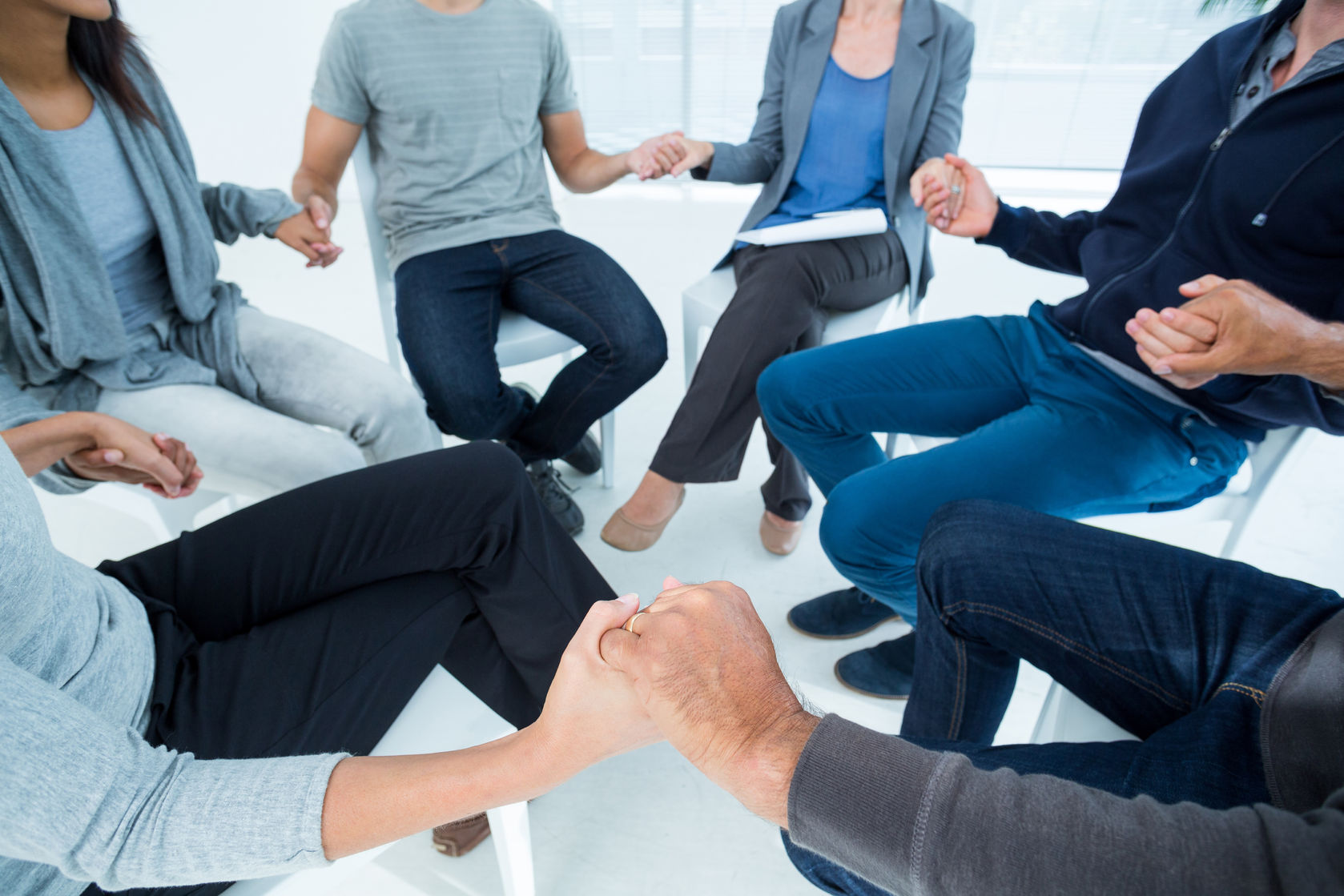 support group in a circle
