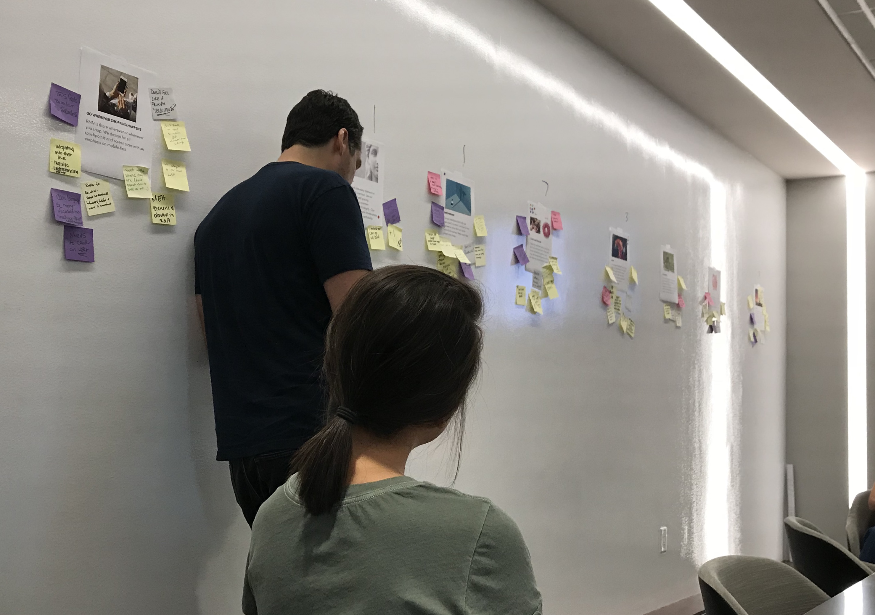 UX Design design studio group with Mitchell Thieman and design team