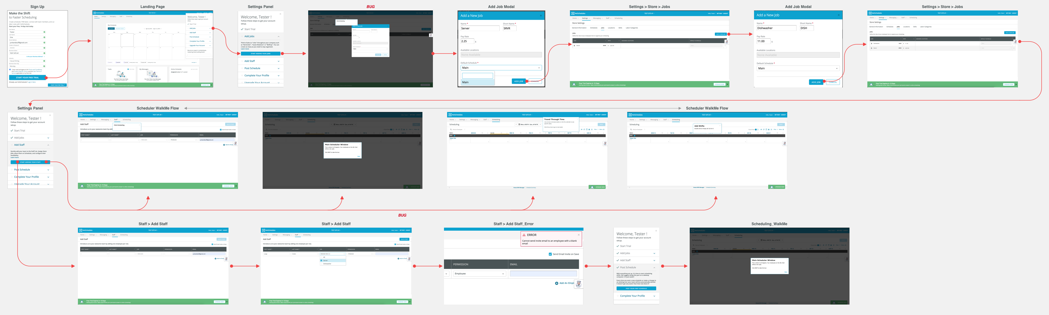 Audit of user flow for Essentials Onboarding