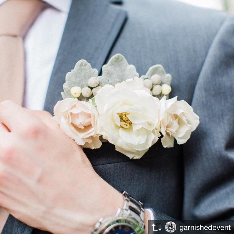 floral pocket square richmond virginia wedding florist