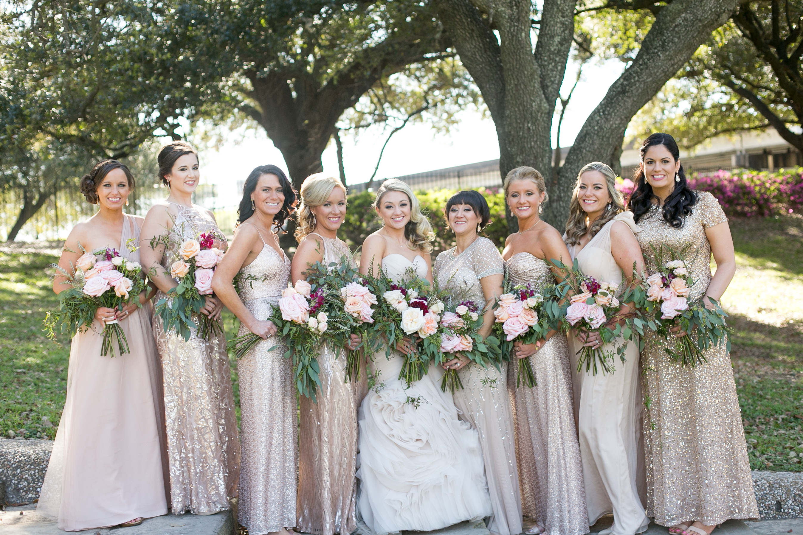 blush bridesmaid bouquets richmond virginia wedding florist