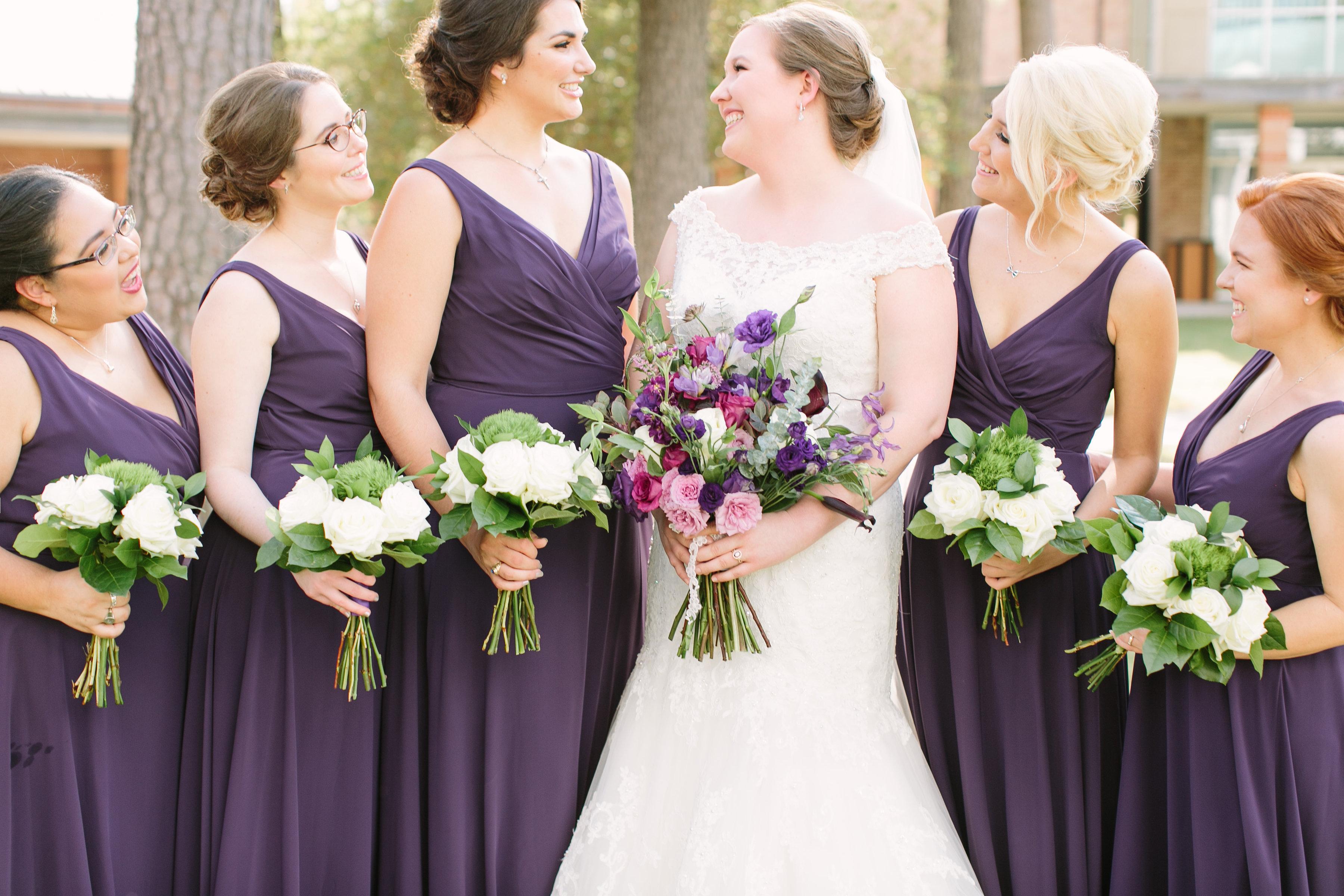 purple wedding flowers bouquets richmond virginia wedding florist