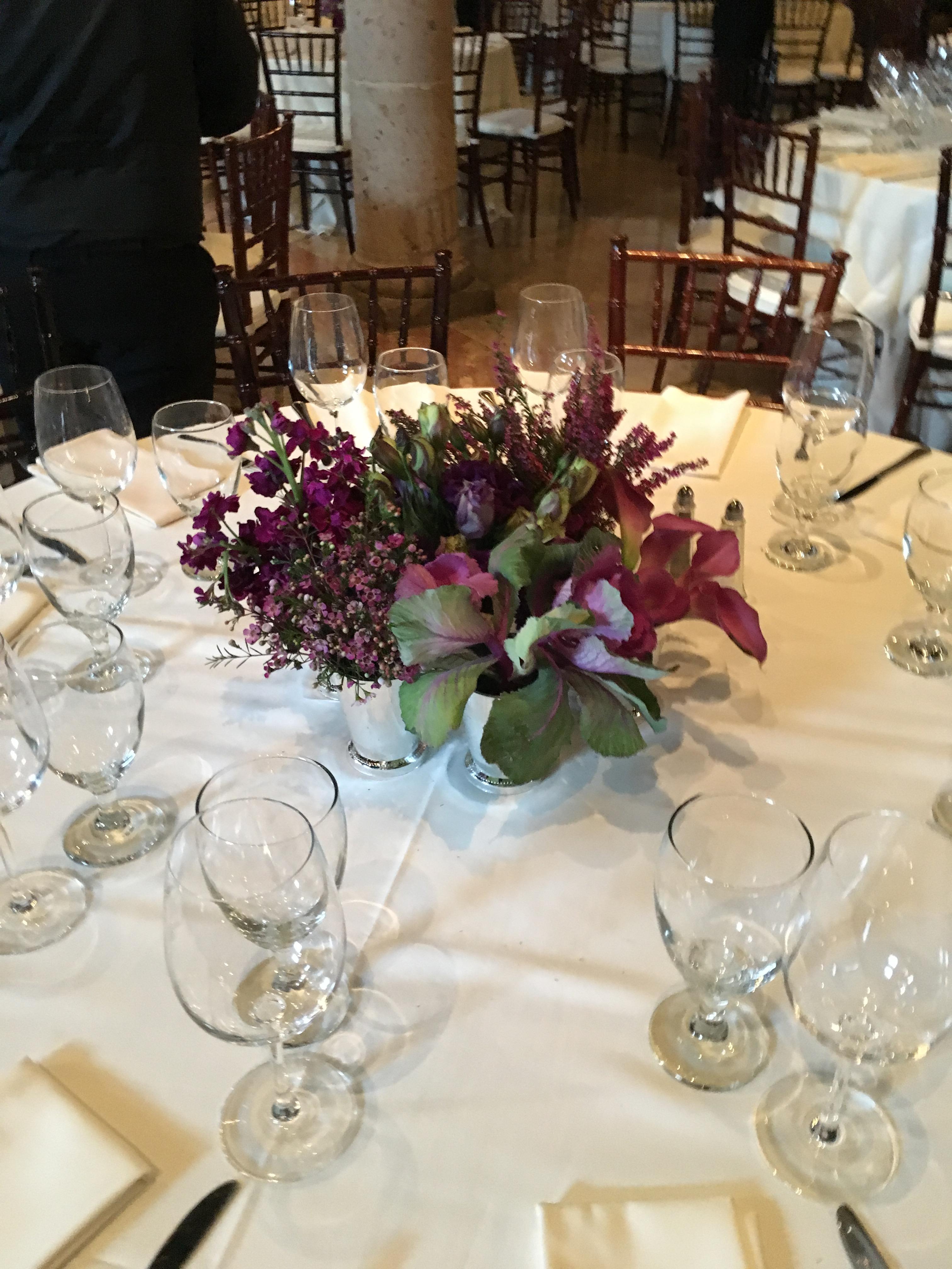 centerpiece purple wedding flowers richmond virginia florist