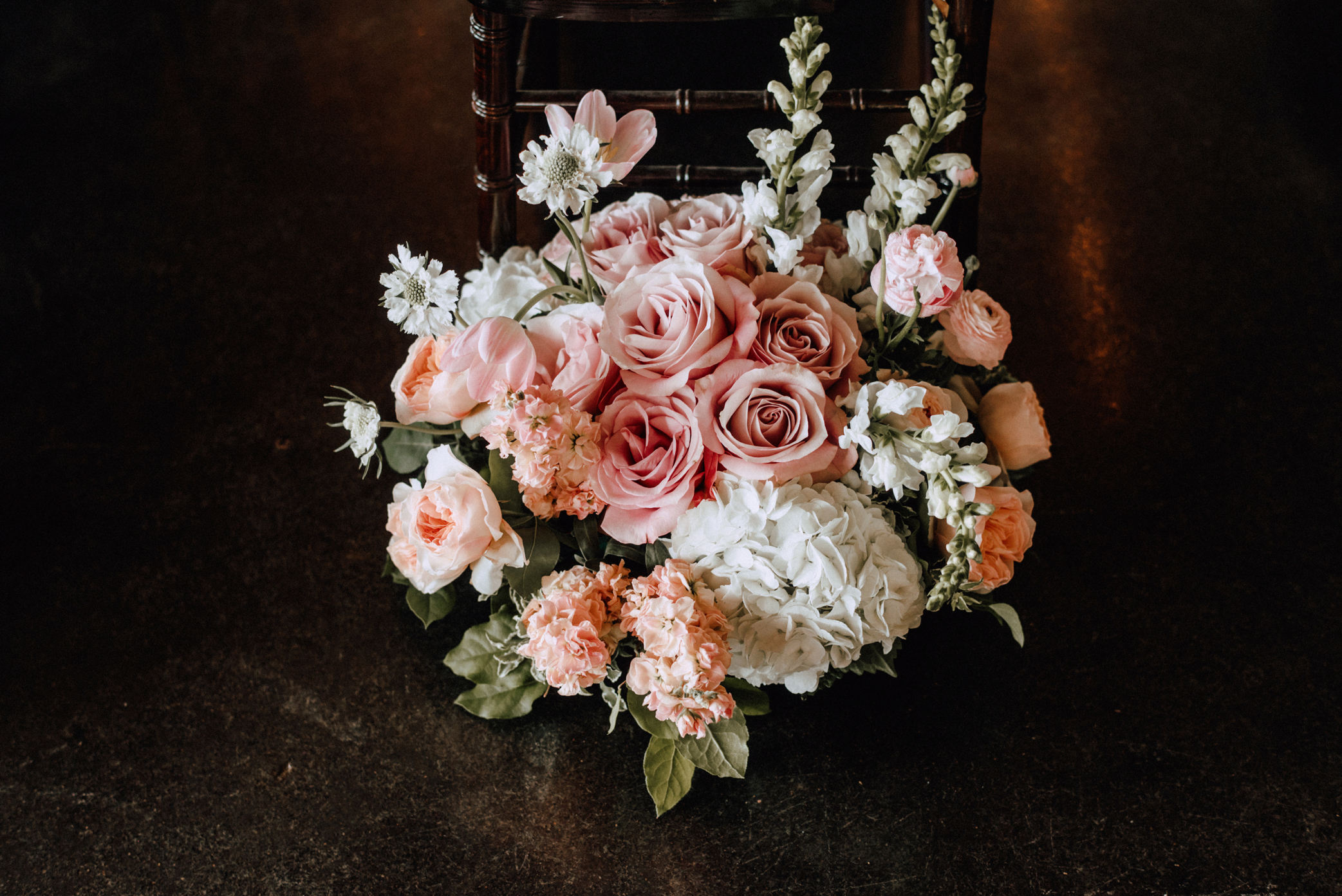 centerpiece peach wedding florist richmond virginia juliet garden rose