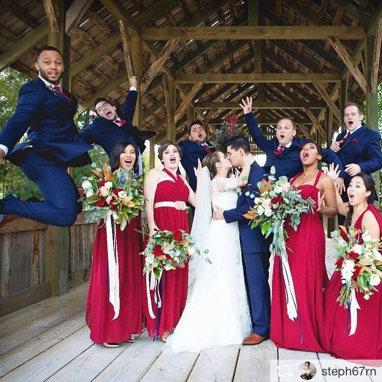 wedding party richmond wedding florist virginia