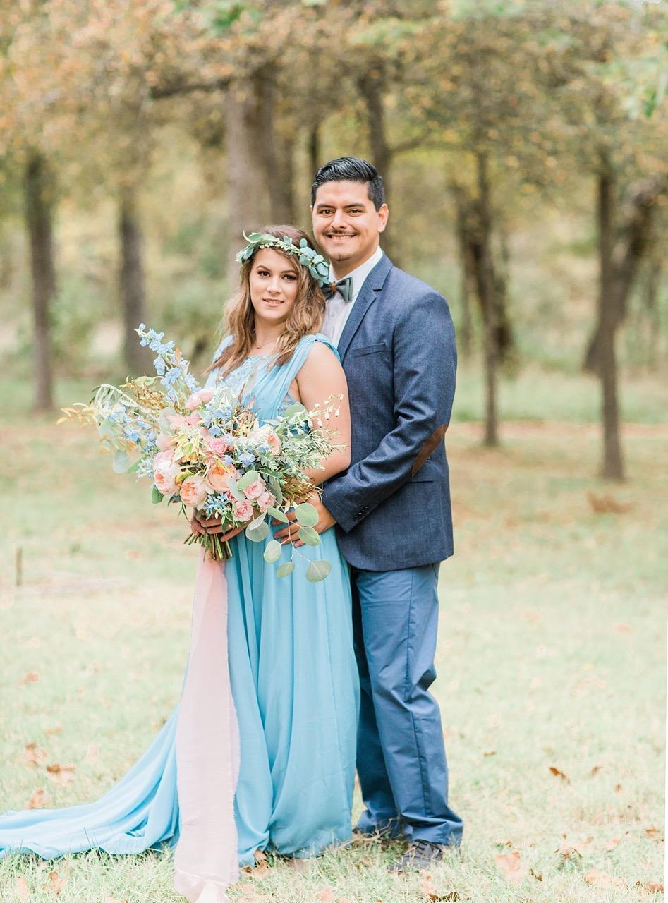 wedding florist richmond virginia peach and blue buquet