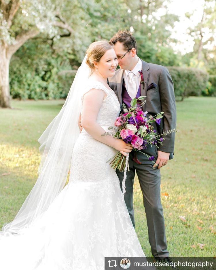 purple wedding flowers richmond virginia florist