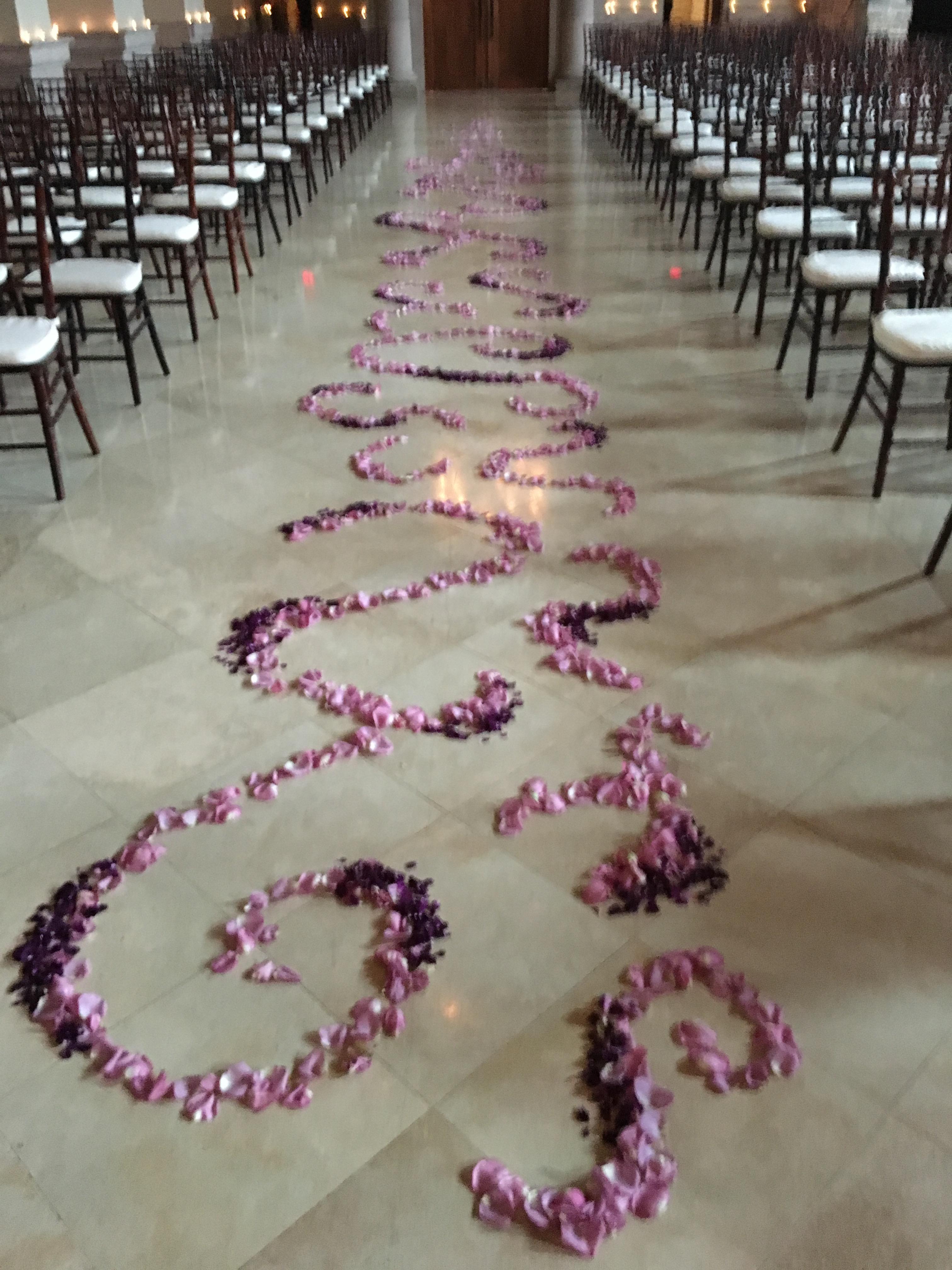 aisle enhancement richmond virginia wedding florist