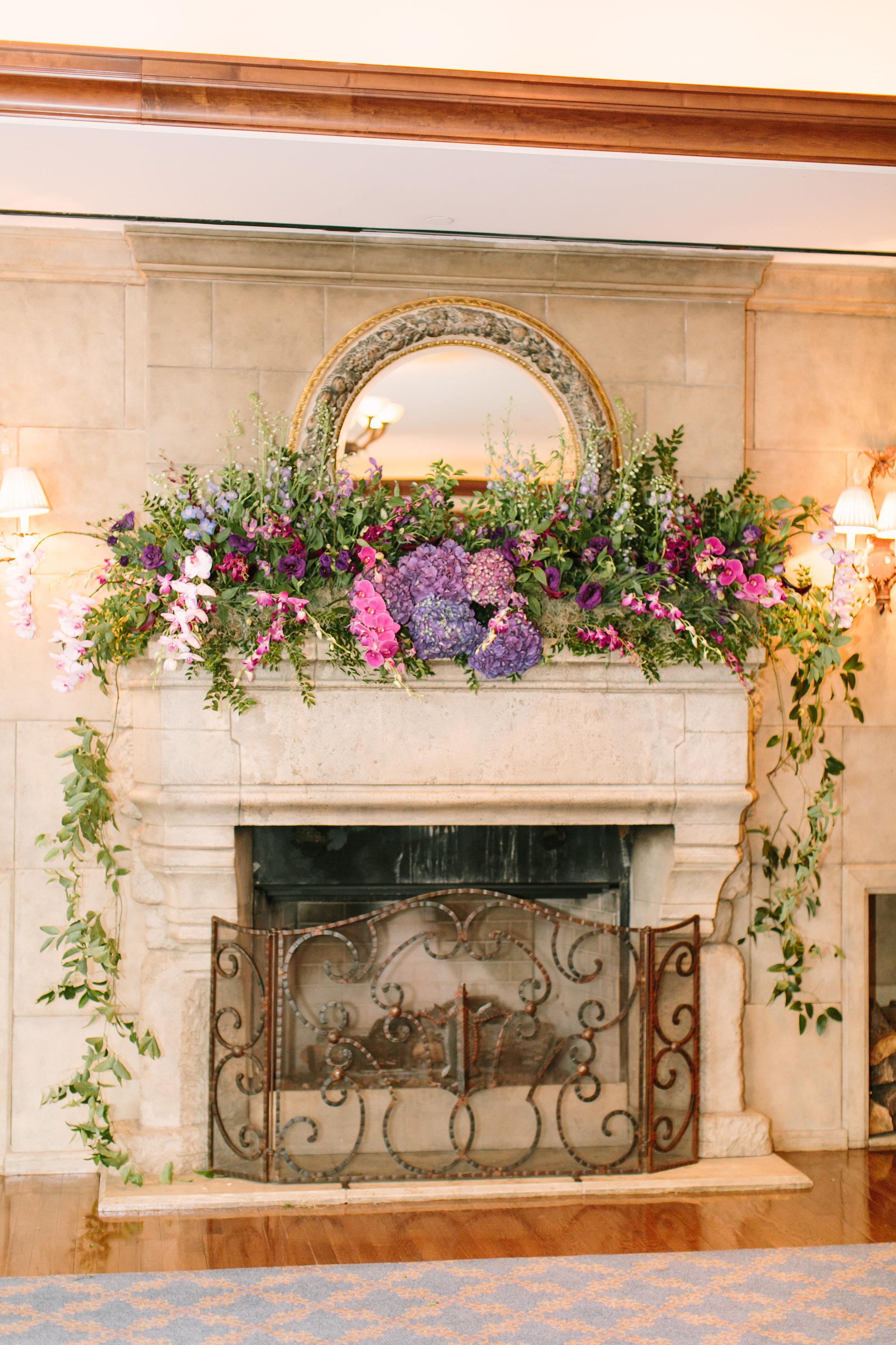 mantel flowers wedding florist richmond virginia
