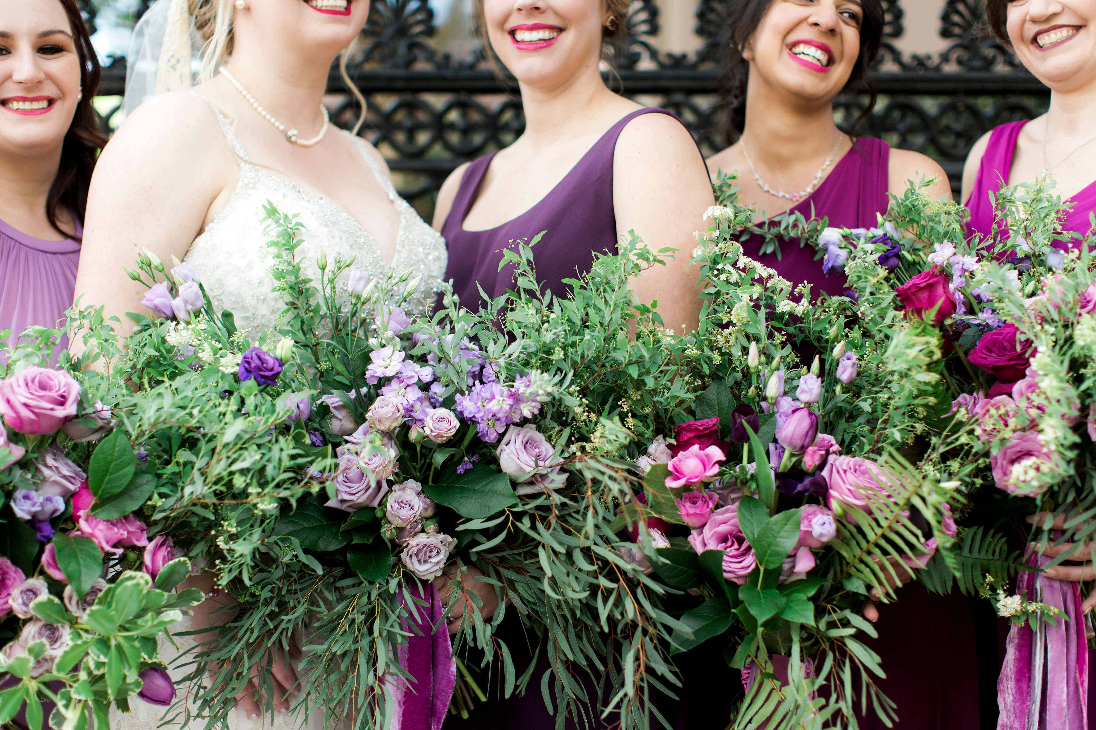 bridesmaid bouquet boho bouquets purple flowers purple bridesmaid bouquets wedding flowers richmond virginia wedding florist