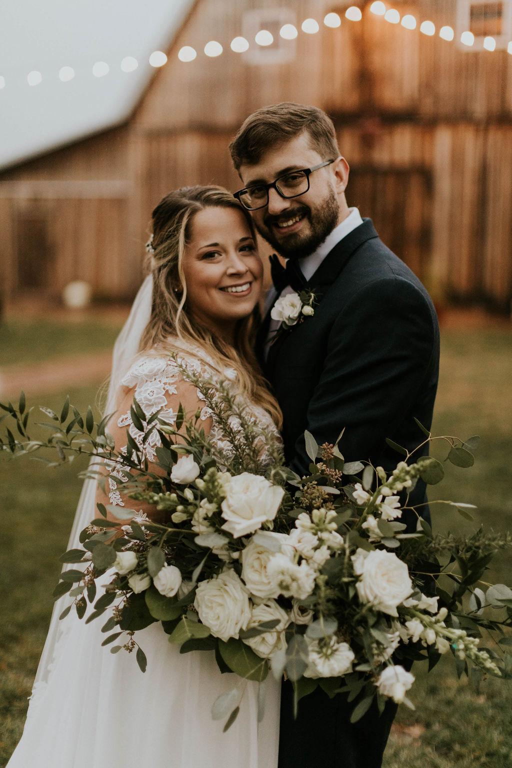 white wedding flowers white bridal garden style bouquet richmond virginia wedding florist