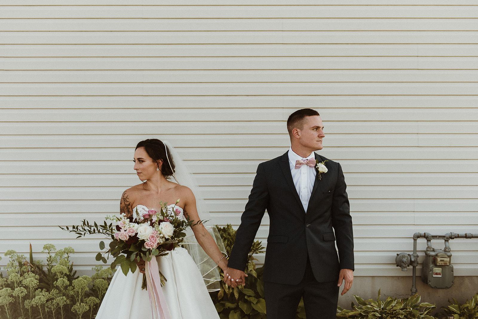 garden style bridal bouquet boutonniere richmond wedding florist virginia wedding florist