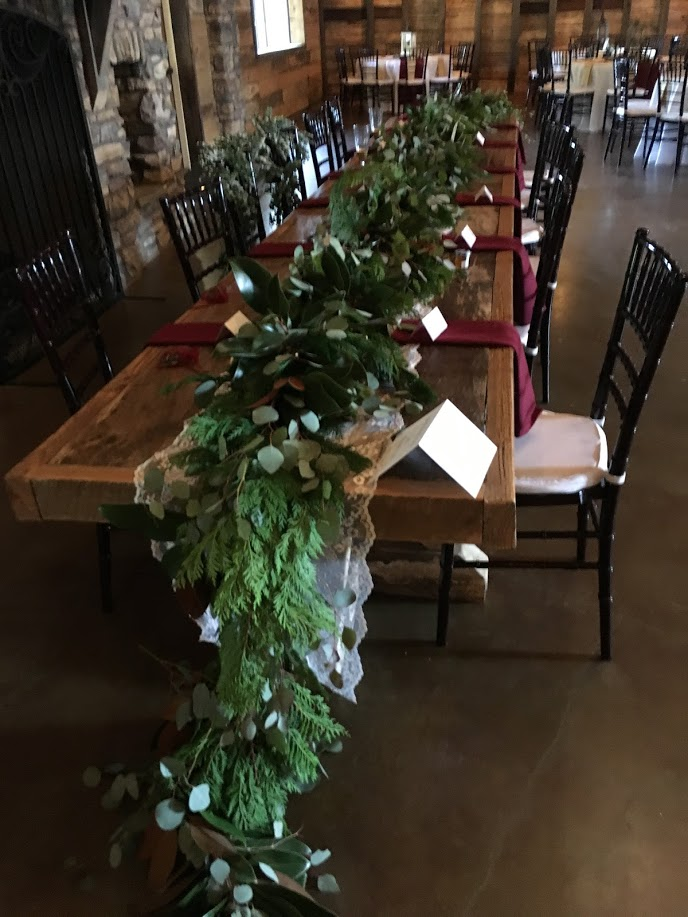 king table garland head table garland christmas wedding richmond virginia wedding florist