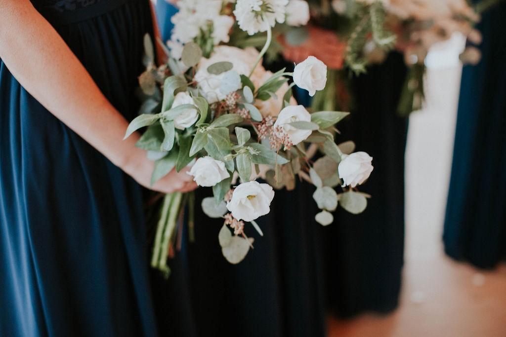 white bridesmaid bouquet wedding flowers richmond virginia wedding florist