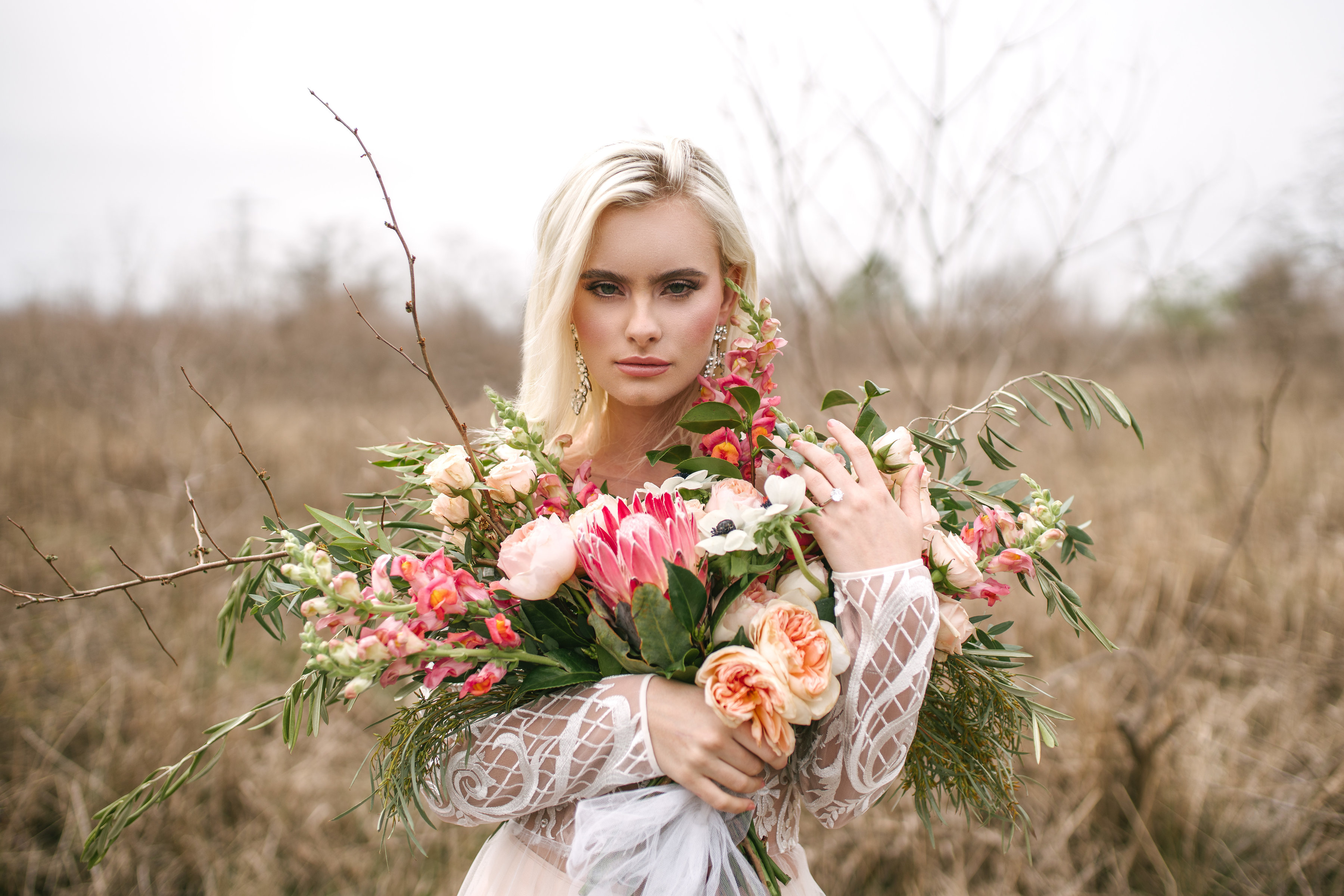 boho bridal bouquet wedding flowers personal wedding flowers peach bouquet