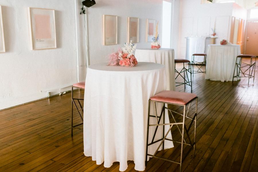 cocktail table arrangement quirk hotel richmond virginia wedding florist