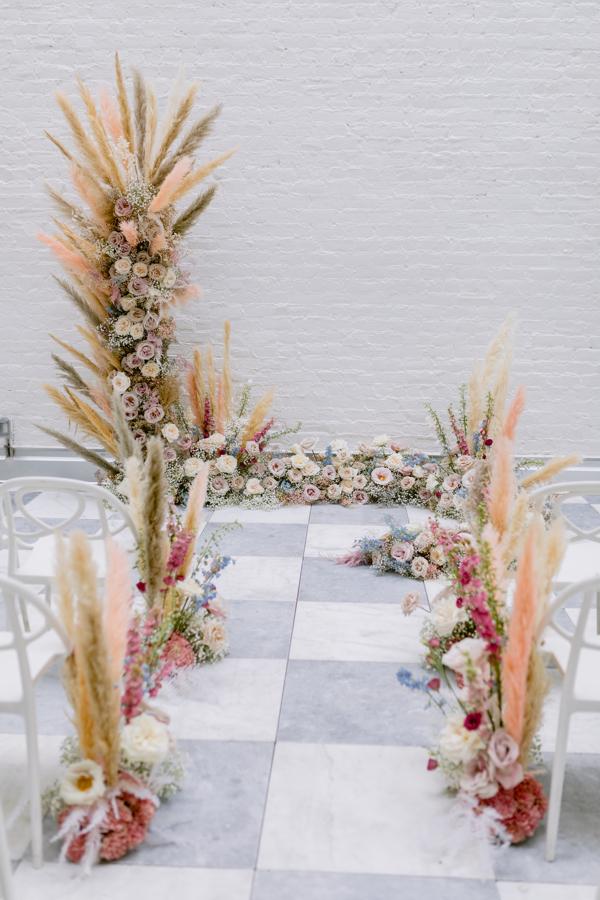 ceremony flowers aisle floral decor wedding flowers aisle enhancement quirk hotel rva richmond virginia weddinf florist