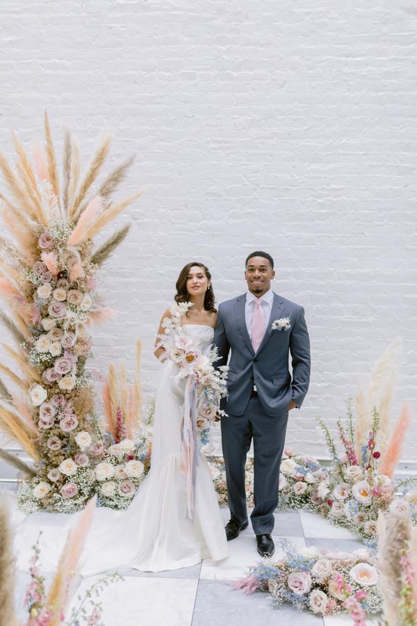 ceremony floral design flower tower weddings ceremony flowers quirk hotel rva richmond wedding florist virginia