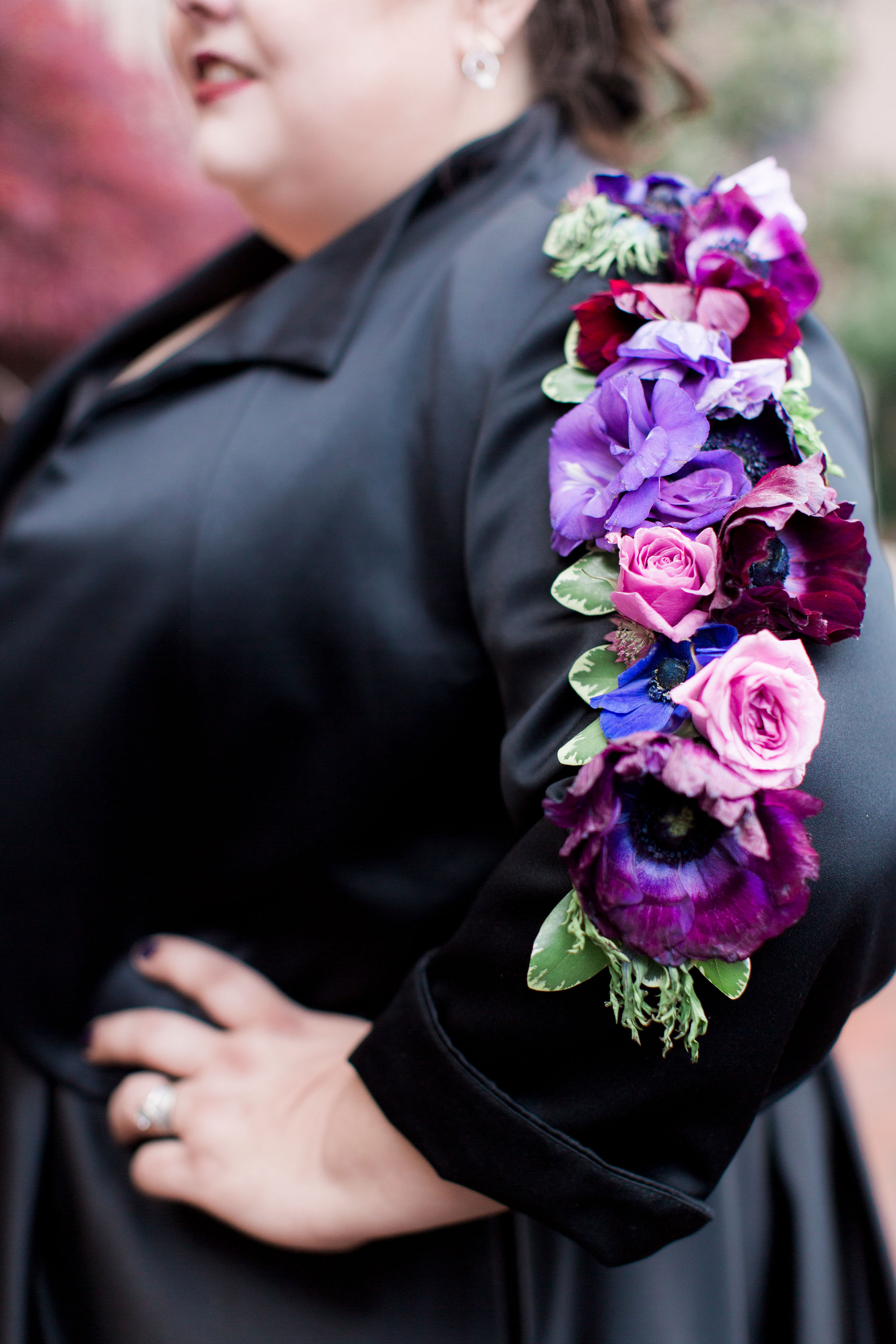 floral tattoo floral sleeve grooms woman wedding flowers personal flowers bolling haxall house richmond virginia wedding florist