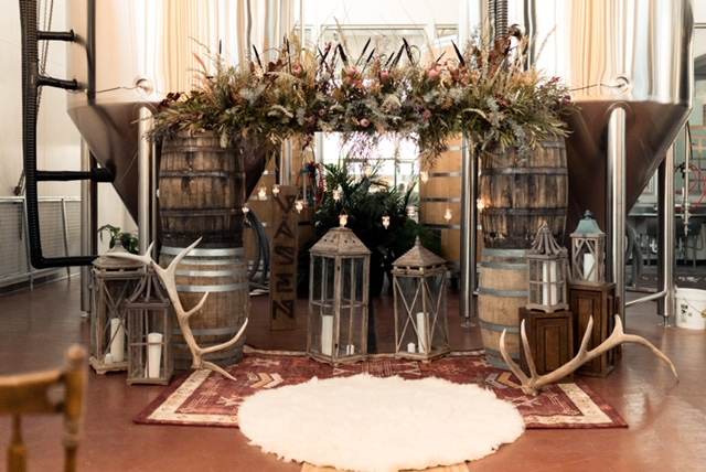bohemian ceremony decor vasen brew co richmond virginia wedding florist boho
