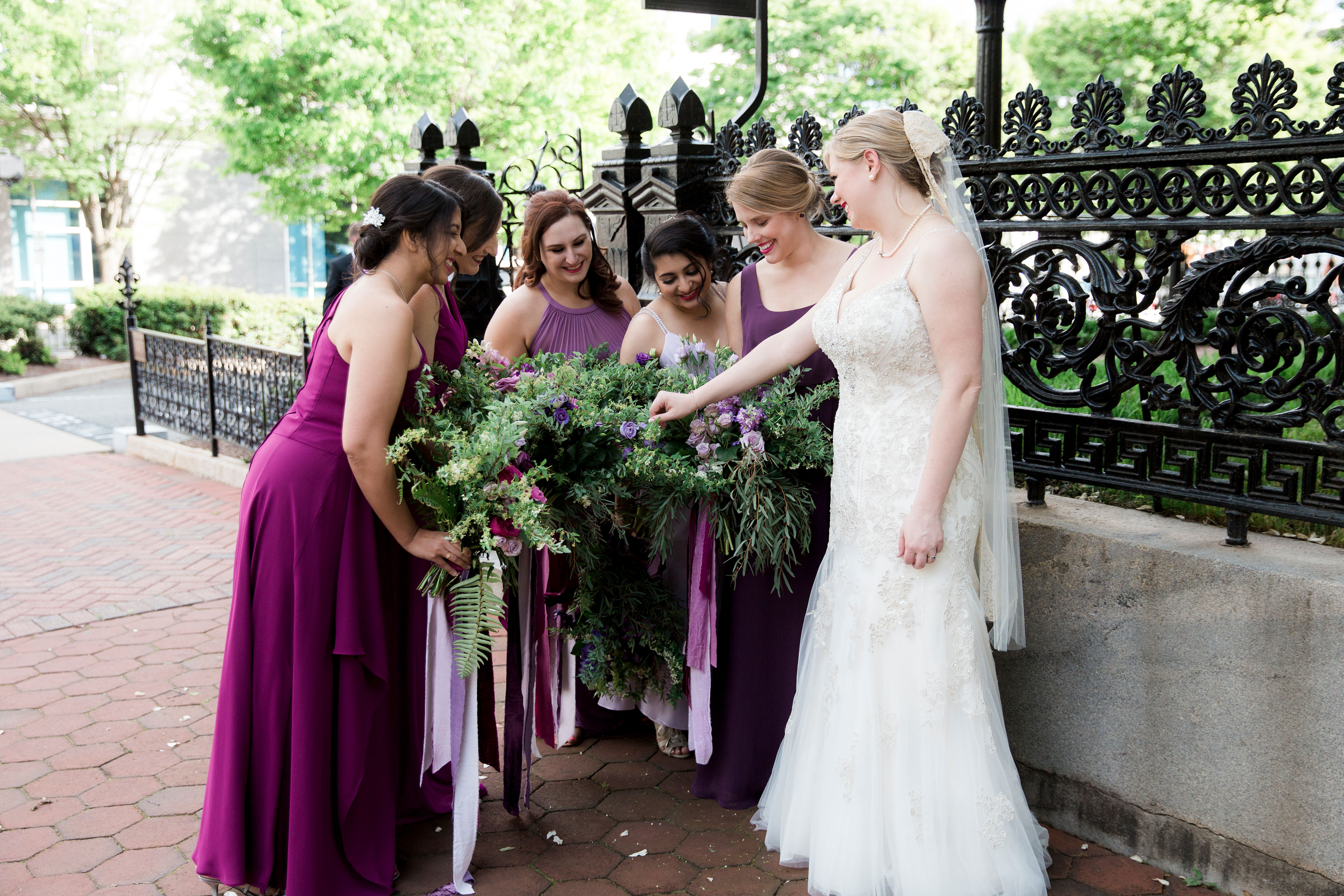 purple wedding flowers personal purple wedding flowers purple bouquets bolling haxal house richmond virginia wedding florist