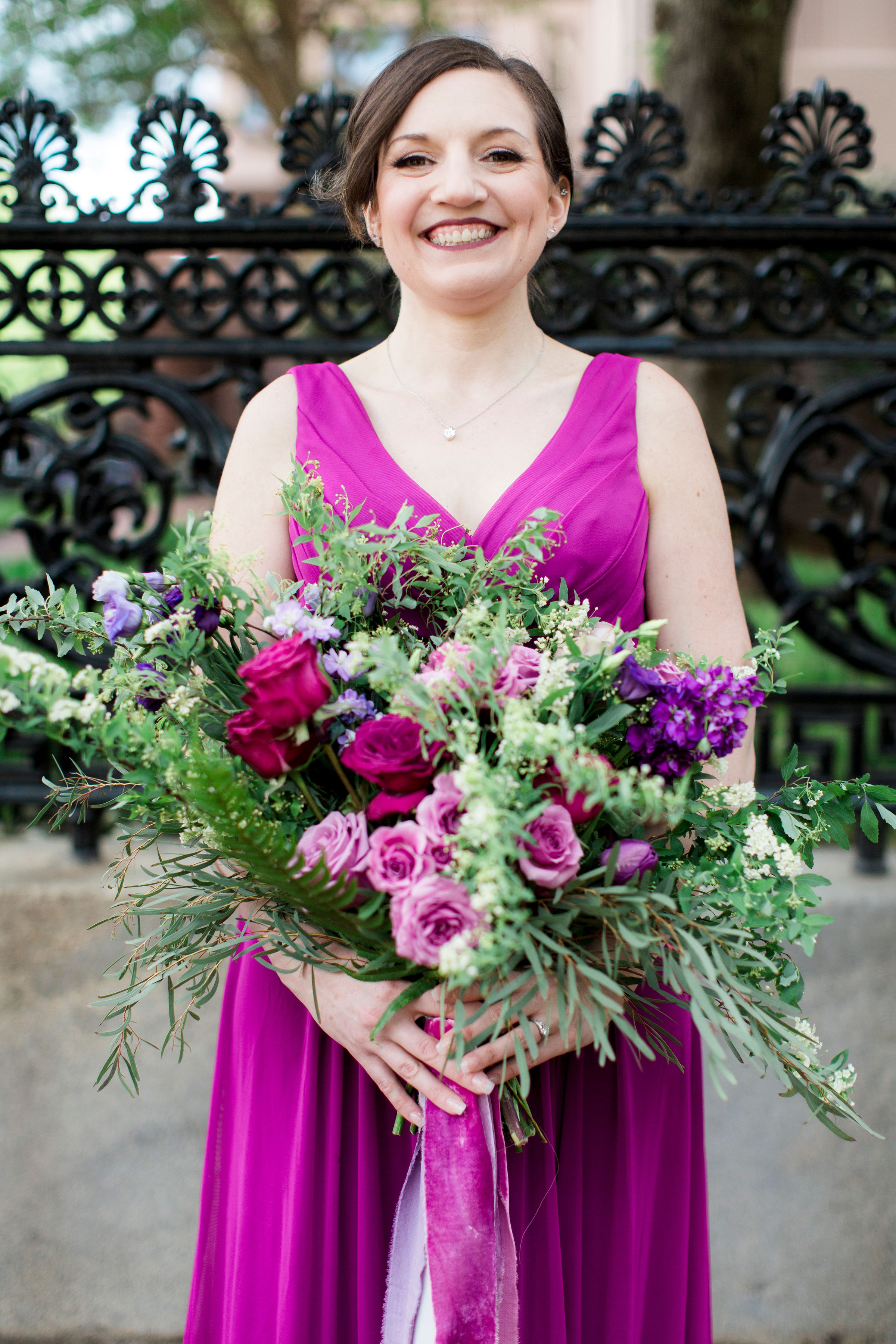 floral purple garland wedding flowers bolling haxall house richmond virginia wedding florist