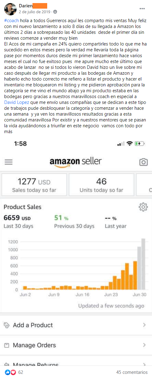 Ordered Product Sales | Just One Dime