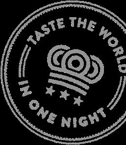 Taste the world in one night stamp