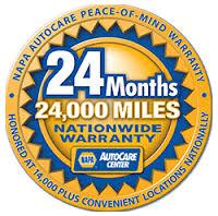 NAPA AutoCare Warranty 24 Mos