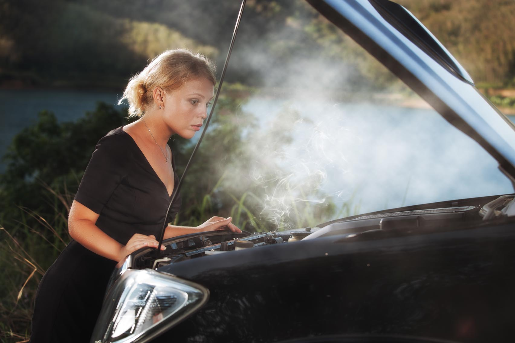 What should I do if my car starts to overheat?