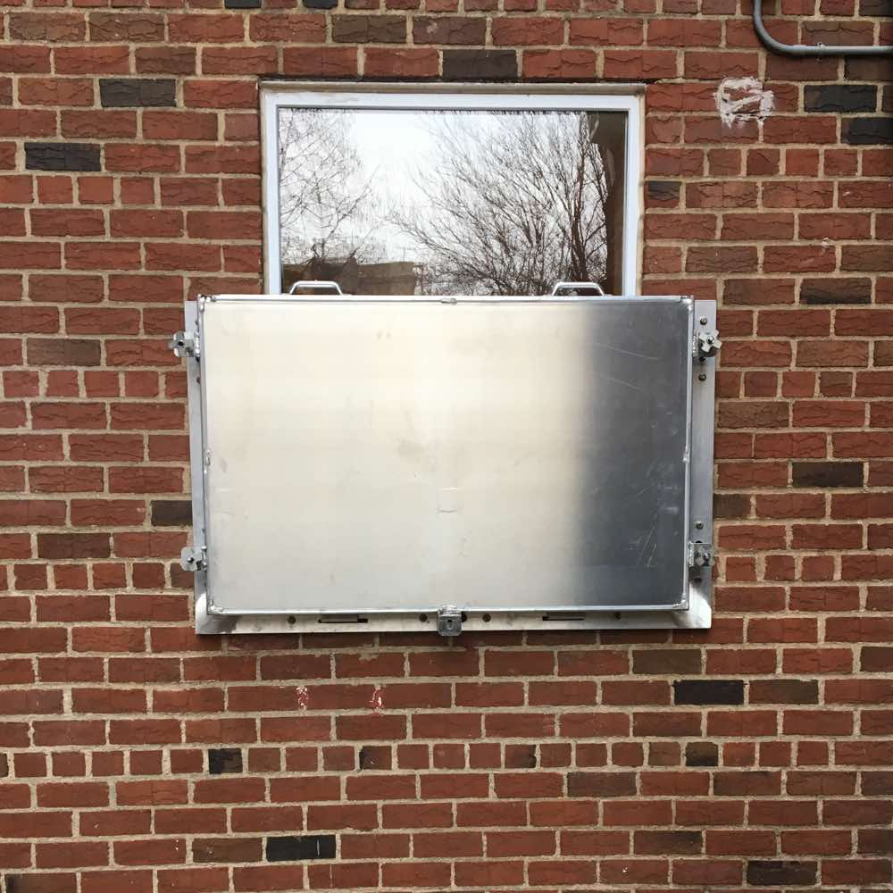 Flood panels are easy to install and remove