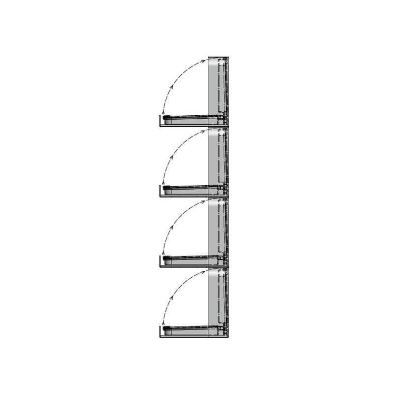 Diagram of buoyant louvered panels