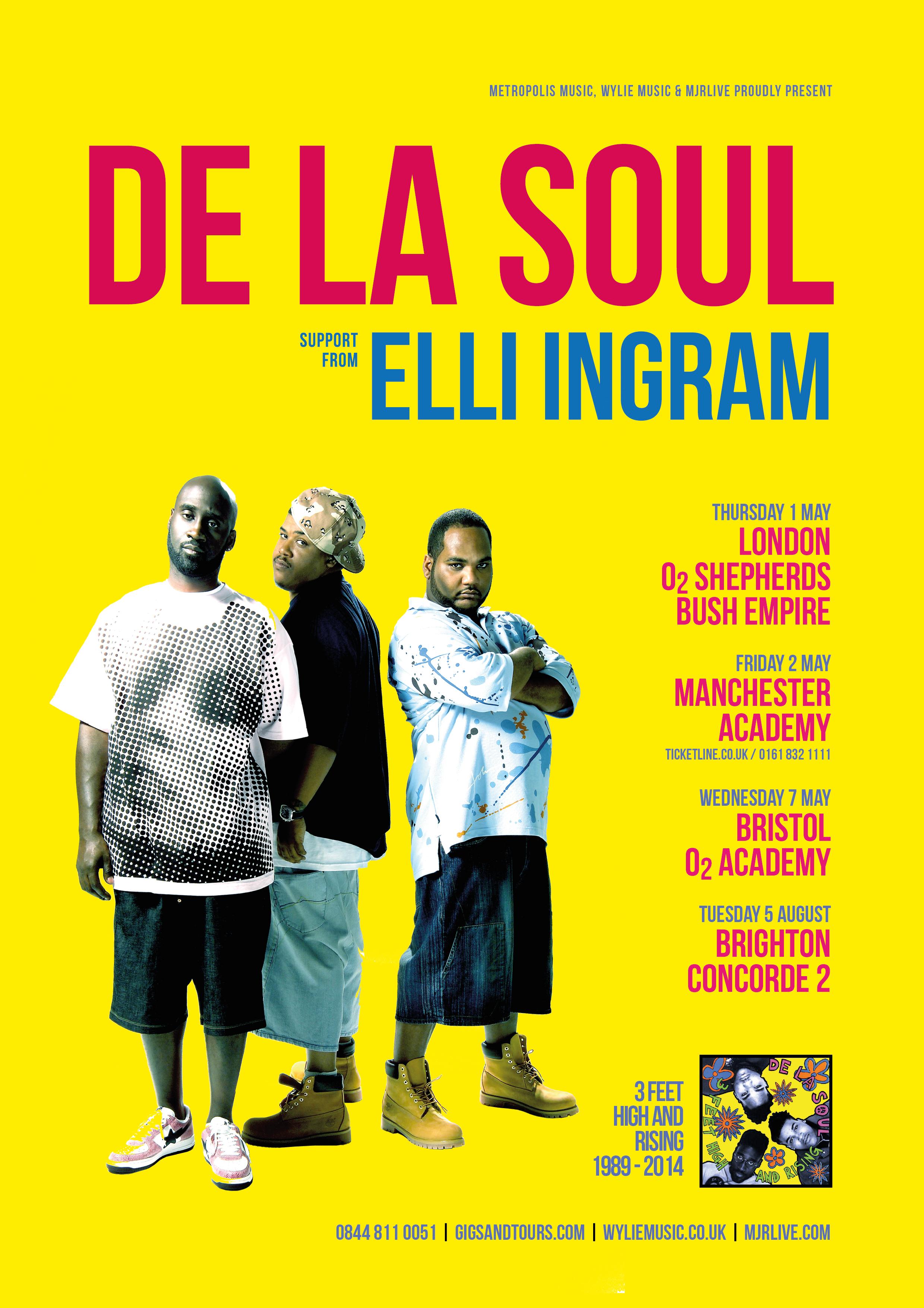 De La Soul 2014 Tour
