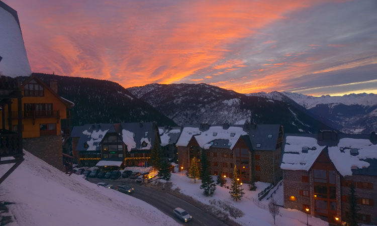 Sunset over Baqueira