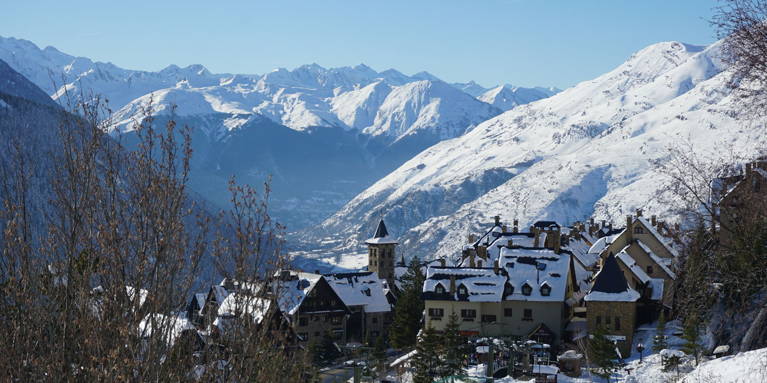 Baqueira in the snow