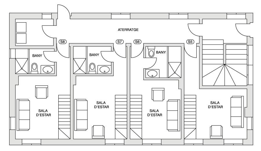 Eira Ski Lodge lower first floor plan