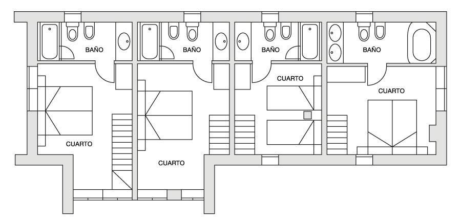 Eira Ski Lodge upper first floor plan