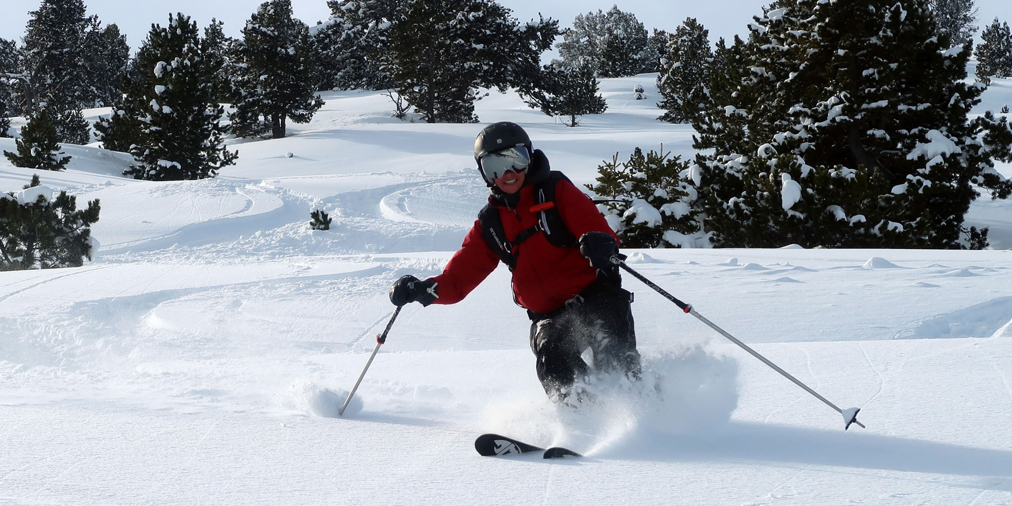Off-piste skiing while staying at Eira Ski Lodge