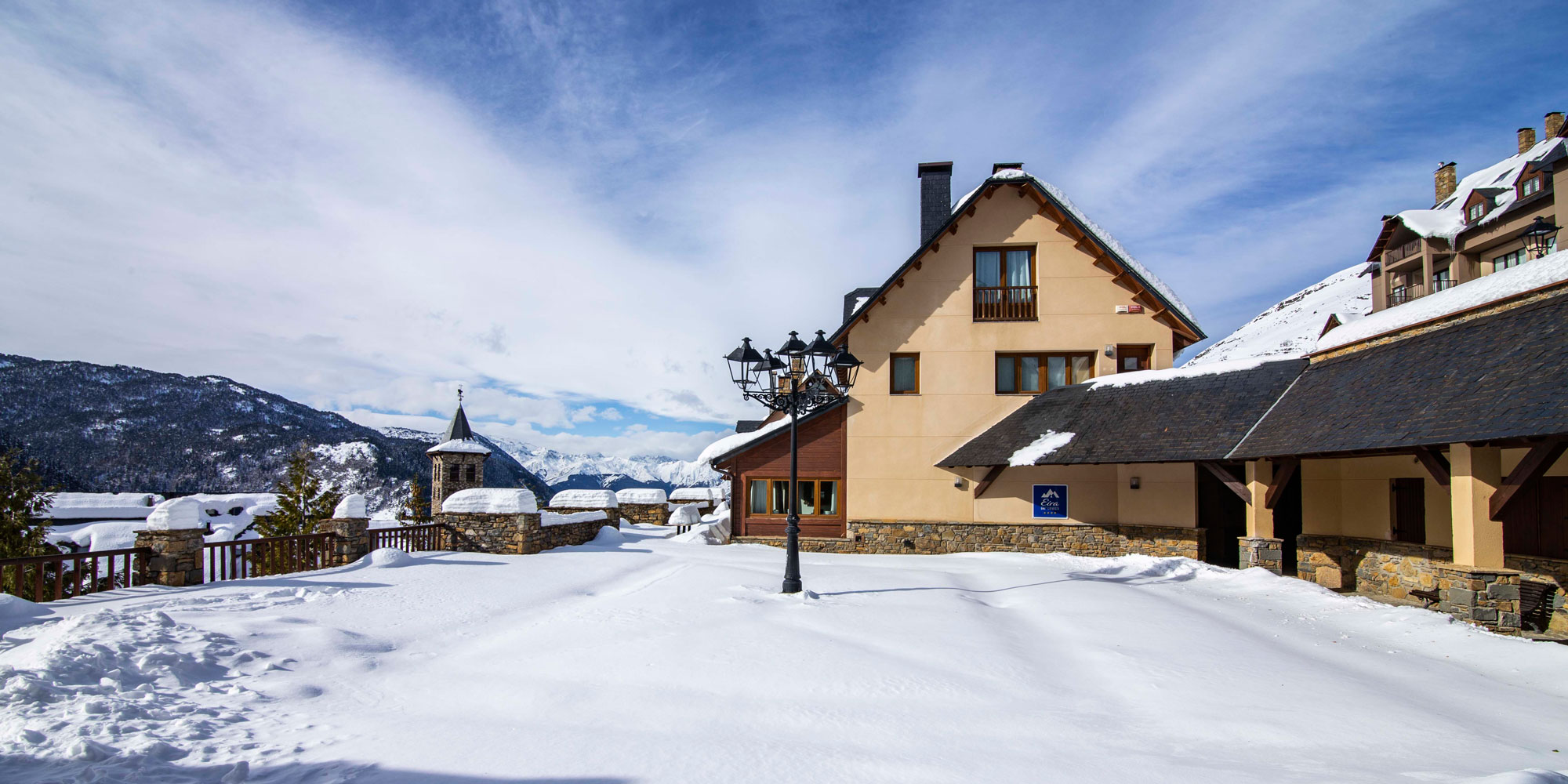Eira Ski Lodge in snow