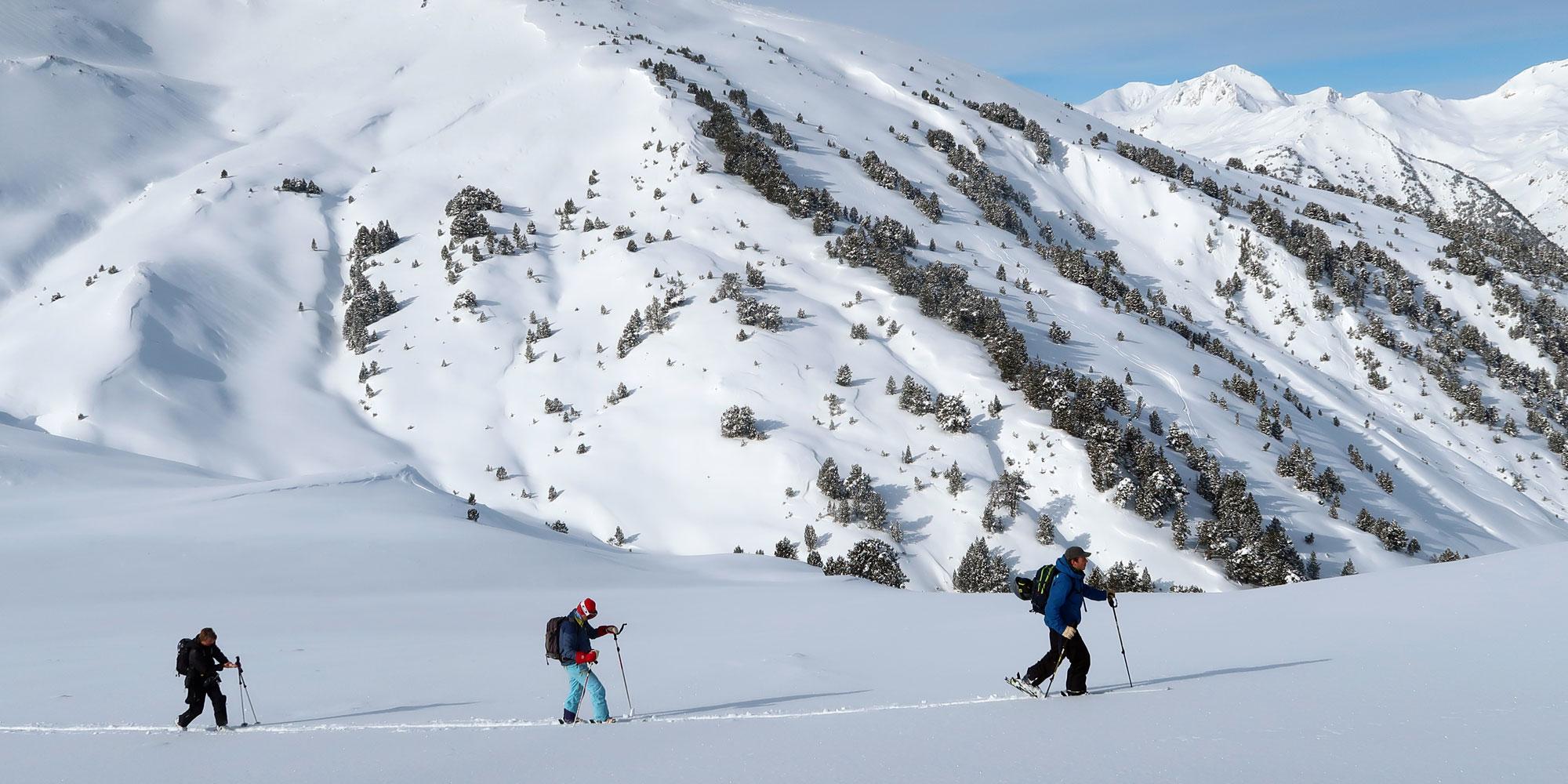 Off-piste skiers